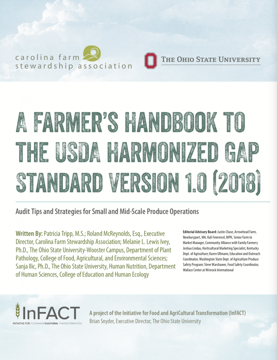Cover of The Farmer's Handbook for the USDA Harmonized GAP Standard